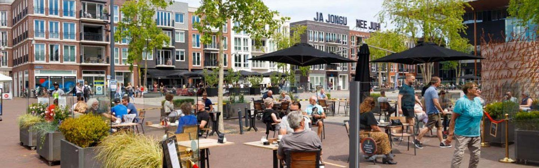 Nieuwe terrasruimte in Leeuwarden een gezellige drukte