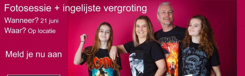 Simon van der Woude houdt fotoshoots voor Vaderdag