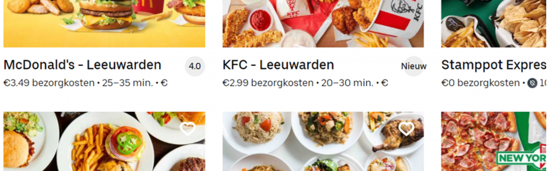 McDonald's en KFC nu bij je thuisbezorgd door Uber Eats!