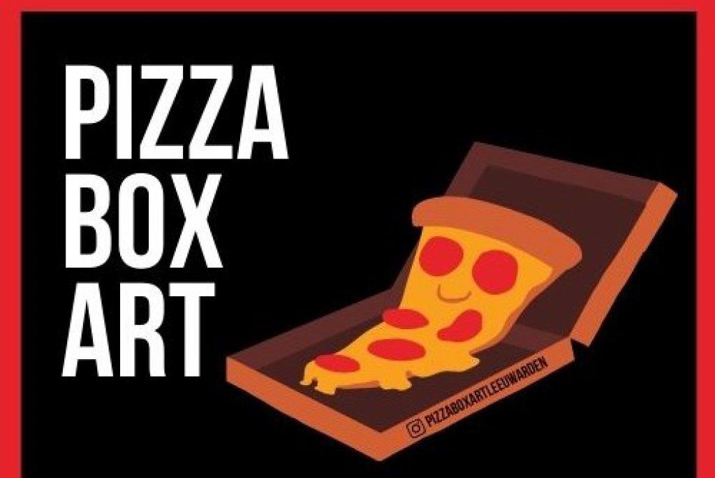Verrast door kunstwerk bij jouw pizzabestelling